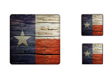 Texas flag Buttons Royalty Free Stock Photography