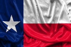 Texas Flag - Crumpled fabric background, wallpapers. Close up stock photo
