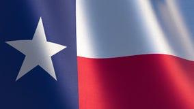Texas Flag ejemplo 3d de la bandera que agita de Tejas Imagen de archivo libre de regalías
