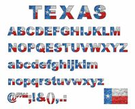 Texas flag font on a brick wall. Illustration Royalty Free Stock Photography
