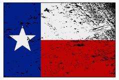 Texas Flag Grunged Photo libre de droits