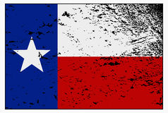 Texas Flag Grunged. A Texas flag with a grunge design isolated on a white background Royalty Free Stock Photo