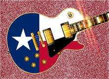 Texas Flag Guitar Guitar Photos stock