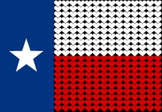 Texas flag heart Stock Photography
