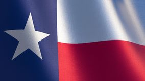 Texas Flag illustration 3d de drapeau de ondulation du Texas Image libre de droits