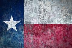 Texas Flag malte auf einer Wand stock abbildung