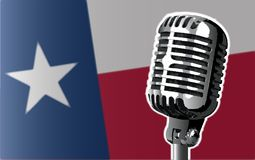 Texas Flag And Microphone Background Photos stock