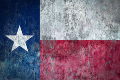 Texas Flag painted on a Wall. Ddistressed Painting of a Flag on an old Wall Royalty Free Stock Photos