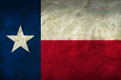 Texas Flag on Paper. Flag on an old Paper Texture Stock Images