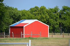 Texas flag shed Royalty Free Stock Photo