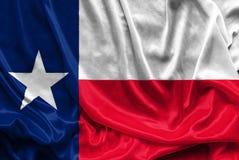 Texas Flag - skrynklig tygbakgrund, tapeter Arkivfoto