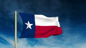 Texas flag slider style. Waving in the win with. Texas flag slider style. Waving with cloud background animation stock video