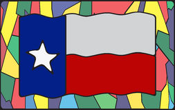 Texas Flag On Stained Glass Royalty Free Stock Photo