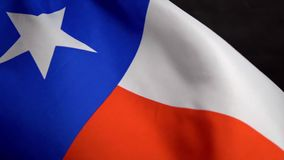 Texas flag waving on wind on Independence Day in America in slow mo. Texas flag waving in the wind on the Independence Day in America in slow mo stock video
