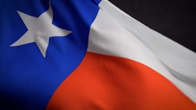 Texas flag waving in the wind on Independence Day in America. Texas flag waving in the wind on the Independence Day in America stock footage