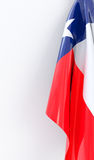 Texas Flag on white board Stock Photo