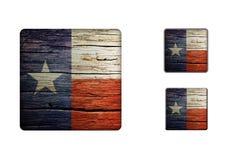 Texas flaggaknappar Royaltyfri Fotografi