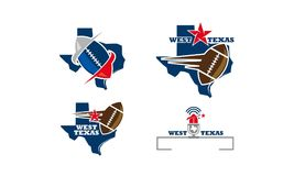 Texas Football Template Set. Vector Royalty Free Stock Images