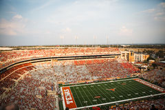 Texas Football. View of Darrel K. Royal field before start of a football game at the University of Texas stock images