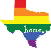 Texas gay pride vector state sign. LGBT community pride vector U.S. state decal: easy-edit layered vector EPS10 file scalable to any size without quality loss vector illustration
