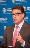 Texas Gov Rick Perry fala em Manchester, New Hampshire, EUA Imagem de Stock