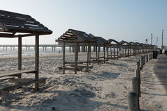 Texas Gulf Coast Beaches have Rest Areas and Tables Stock Photography