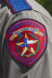 Texas Highway Patrol Badge Royaltyfri Foto