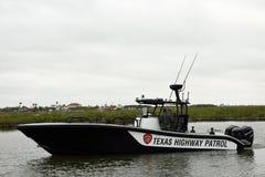 Texas Highway Patrol speedboat on patrol royalty free stock image