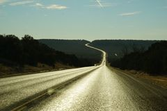 A Texas highway. Royalty Free Stock Photography
