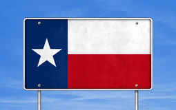 Texas highway road sign Royalty Free Stock Photos