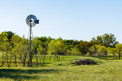 Texas Hill Country. Pretty Texas Hill Country ranch with a windmill Stock Images