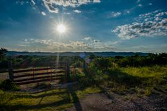Texas Hill Country Ranch Entrance Photo stock