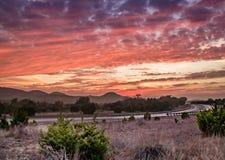 Texas Hill Country-Sonnenuntergang lizenzfreies stockfoto
