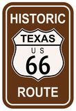 Texas Historic Route 66 Photo libre de droits