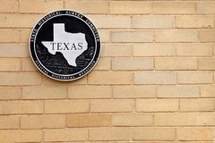 Texas Historical Landmark image libre de droits