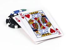 Texas Hold'em Best Hand Stock Image
