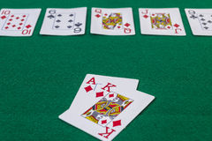 Texas hold em cards Stock Photos