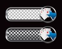 Texas hold em on checkered tabs Stock Images