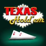 Texas hold'em. Gambling background color Stock Photography