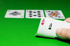 Texas hold-em Poker. The Texas hold-em Poker game Royalty Free Stock Photography