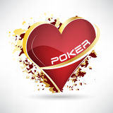 Texas hold em poker, 3D  illustration with card symbol Royalty Free Stock Images