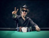 Texas Hold'em poker: the winner Stock Photo