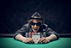 Texas Hold'em poker: the winner Stock Image