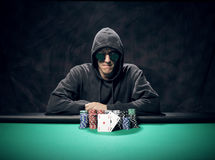 Texas Hold'em poker: the winner Stock Photos