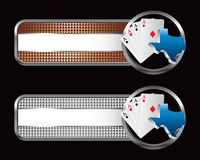 Texas hold em specialized banners. Texas hold em specialized tabs Royalty Free Stock Images