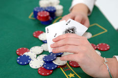Texas Hold um Stock Photo