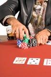 Texas Hold'um imagem de stock