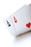 Texas holdem. Winning poker, texas holdem, aces Royalty Free Stock Image