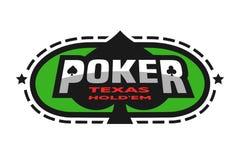 Texas Holdem poker emblem. Royalty Free Stock Photography