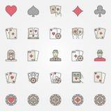 Texas holdem poker icons Royalty Free Stock Photos
